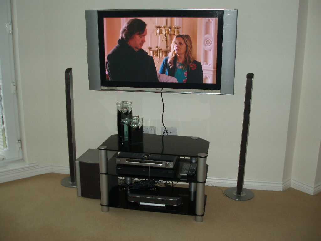 Sony Vaio Bravia With Cinema Sound Dvd Player Tuner And Glass  # Meuble Tv Sony Home Cinema