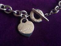 £230ono Tiffany & Co Return to Tiffany Heart Toggle Choker Necklace Silver RRP500