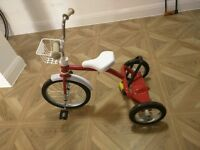 Italtrike Retro Kids Trike Bike Tricycle (Red and White)