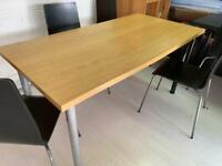 Ikea desk with different colour legs