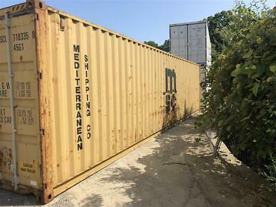 Used 40 High Cube Steel Storage Container Shipping Cargo Conex Seabox Denver