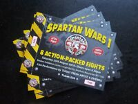 SPARTAN FIGHT CLUB SPARTAN WARS 1 TICKETS MANCHESTER BOWLERS EXHIBITION CENTRE 25/08/18