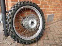Yamaha YZ 250 1990 Rear Wheel Complete
