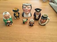 Assorted selection of Toby jugs for sale in Woking
