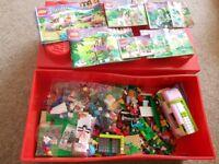 Lego friends bundle with Lego storage box