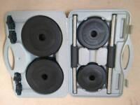 Lonsdale dumbbell kit - 15kg and gel handwraps