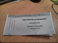 1x standing ticket for Frank Turner at Leeds Uni on Thursday 1st December - free delivery!
