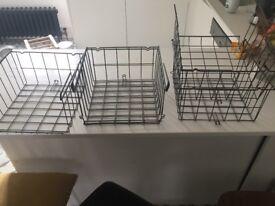 4 Ikea wire kitchen storage baskets