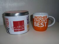 BRAND NEW - Ben Di Lisi Mother Knows Best Mug in gift tin