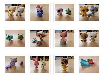 littlest pet shop 12 to choose from cats rabbits lizards meerkat bat turtle pig