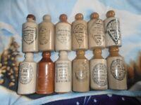 12 birmingham ginger beer bottles all in good condition