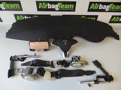 Tesla Model S 2012 -Onwards Airbag Kit Driver Passenger Dashboard Seat Belts ECU