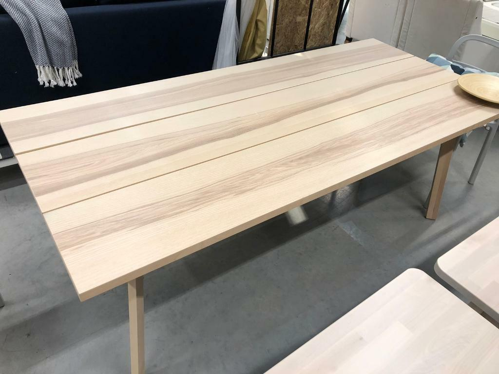 Fantastic Ikea Ypperlig 6 8 Seater Dining Table Ash Was 150 In Sidcup London Gumtree Download Free Architecture Designs Rallybritishbridgeorg