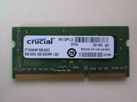 Crucial 8GB 1600MHz DDR3 Laptop Memory (CT102464BF160B)