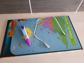 Leapfrog leapreader with books and map