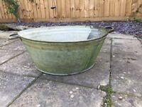 Large 1950's Tin Bath