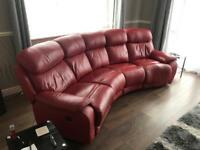 Leather sofa recliner (electric recliner)