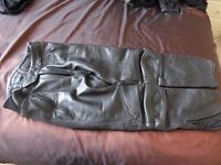 Weise Leather Jeans