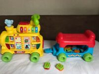 VTECH baby toddler sit to stand yellow multi alphabet train
