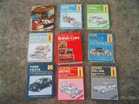 Haynes car repair manuals - Vauxhall Nova / Corsa / escort / fiesta / VW / Rover / Metro