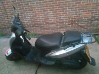 Kymco Agility moped, 2011, new MOT, 11000 miles + helmet (size M)