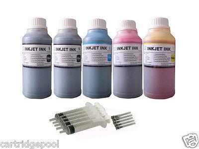 5x250ml Refill Ink For Canon Pfi-102 Ipf650 Ipf655 Ipf700...