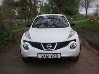 Nissan Juke 1.5 DCI VISIA (white) 2011 GOOD SPEC 12 MONTHS MOT CALL NOW ON 0116 2149247