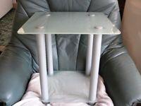 Smoked glass side table