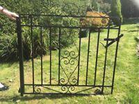 Black metal driveway gates