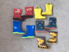 Boys wellington boots £2.00 a pair