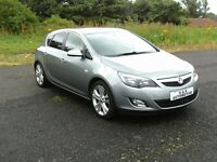 2011 VAUXHALL ASTRA SRI (NEW SHAPE) 5 DOOR 12 MONTHS M.O.T 6 MONTHS WARRANTY (FINANCE AVAILABLE)
