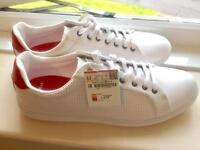 Brand new white trainers, mens size 10