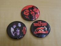 ROCKY HORROR COLLECTABLE PIN BADGES - SET OF 3