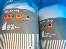 2 x Ikea single duvets, never been opened, brand new in packaging