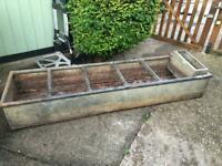 Vintage galvanised Trough - ideal Planter