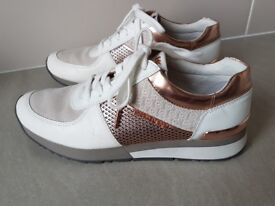 Michael Kors - Rose Gold Trainers, Size 6 Immaculate Condition Only worn once .