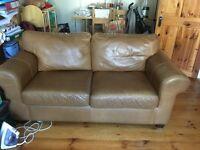 Ikea 2 seater leather sofa