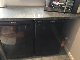 Black under bench fridge hotpoint RLAAV22K.1