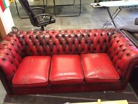 Vintage Oxblood Chesterfield 3 seater sofa.