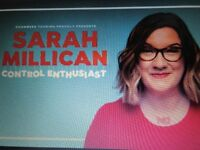 Two tickets to Sarah Millican Portsmouth Guildhall Saturday 3rd November 2018