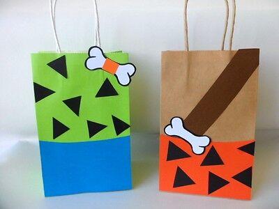 Pebbles/ Bam Bam Flinstones party favors/ Favor Bags/ Goodie Bags  SET OF - Pebbles Flinstones