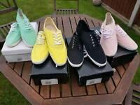 Shoes. Plimsole. Trainers. Deck shoes.