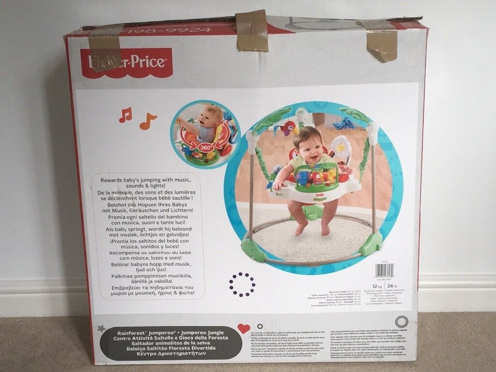 Fisherprice Rainforest Jumperoo. Excellent condition with box and instructions. Hardly used