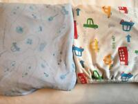 Two fitted Cot Bed sheets 70x140cm