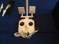 Phantom 3 standard drone with extra goods spec case,long distant antenna, and extras.