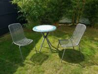 3 piece garden table and chairs