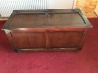 Dark Wood Blanket box