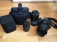 Canon EOS 500D and lenses