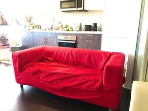 Modern IKEA Sofa (red)
