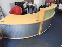 Reception desk which lights up